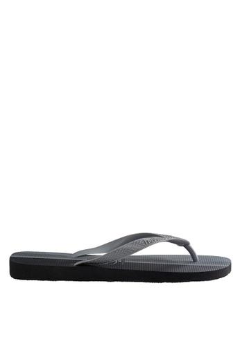 Havaianas black and grey Top Conceitos 17 Flip Flops HA021SH0JPZKPH_1