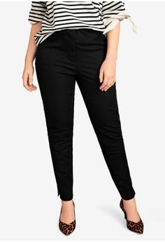 c087d91678 Violeta by MANGO black Plus Size Slim-Fit Stretch Trousers  D3185AACB1B9DCGS 1