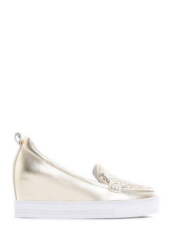 PAZZION gold Metallic Wedge Sneakers 9AB63SH65C3D5FGS_1