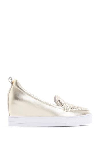 PAZZION gold Metallic Wedge Sneakers 9AB63SH65C3D5FGS_1