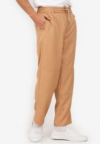 ZALORA BASICS beige Drawstring Trousers E395EAAD42B777GS_1