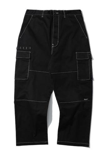 Fivecm black Contrast stitch cargo pants 9987EAA144D211GS_1