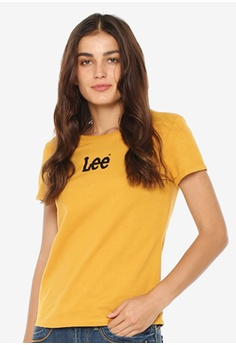 4ce3b3f876 Lee yellow Ladies Short Sleeves Graphic T-Shirt 2A48CAA0033140GS 1