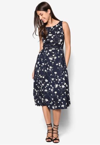 Collection 褶飾及膝裙擺寬領連身裙、 服飾、 洋裝ZALORACollection褶飾及膝裙擺寬領連身裙最新折價