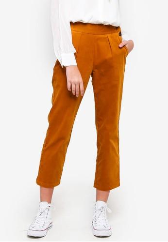 ESPRIT brown Corduroy Pants 83816AA0821AF6GS_1