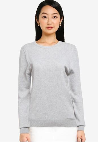 Button On grey Women Knitwear C135DAABFD25E1GS_1