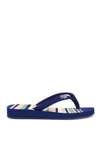 Ripples blue Lynette Stripes Ladies Sandals 6A3F7SH8753C87GS_1