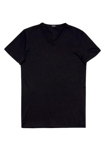 HOM black Best Modal T-Shirt V Neck FAFD9US53CB767GS_1