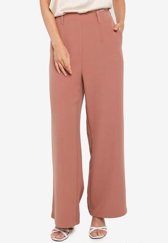 ZALORA OCCASION pink Co-Ord High Waist Wide Legged Pants E7F11AAB1619F0GS_1