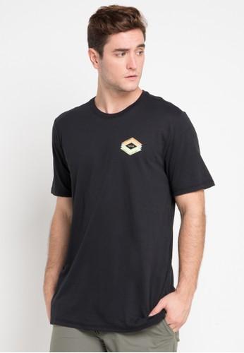 hurley black and multi Dri-Fit Frail T-Shirt 79EDBAAD6E30FCGS_1