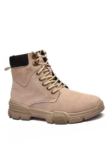 Twenty Eight Shoes Chunky Leather Lace up Boots MC88 7E7E9SHF9DB6AEGS_1