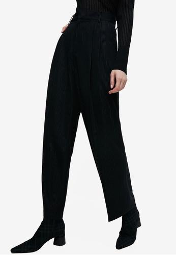 URBAN REVIVO grey Fashion Wide Leg Trousers A63A6AA3B50953GS_1