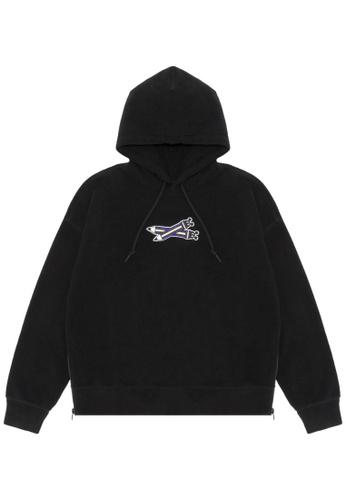 Mini cream black Pencil embroidered hoodie 41D1FAABE78F7FGS_1