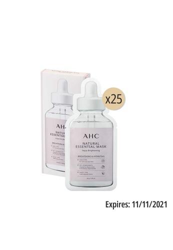 AHC AHC Natural Essential Mask Aqua Brightening 28g*25ea 8E91EBEEB4E965GS_1