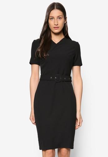 Collection 扣環腰帶連身裙, esprit 童裝服飾, 洋裝