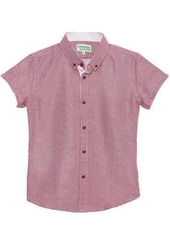 Cabbage Looper red Boys Button Down Printed Shirt - K1515 8089CKAA375829GS_1