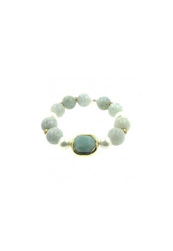 Shinju Pearls green SHINJU PEARLS-Jade Carving with Amazonite Bracelet DA3DFAC964DBBAGS_1
