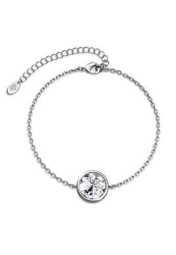 Her Jewellery silver Juliet Bracelet (White Gold, Small)-  Made with premium grade crystals from Austria C7E44ACF63FDE8GS_1