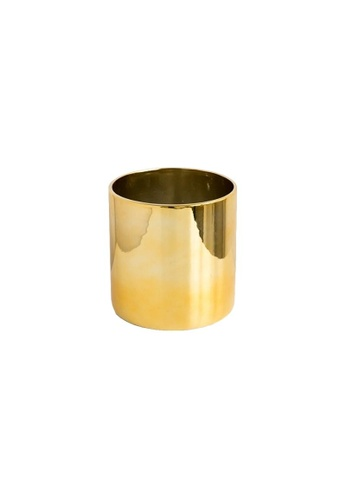 DILAS HOME Metallic Plant Pot (Without Tray) - Big 2FF1FHLC447FA5GS_1