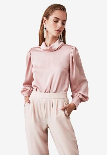 Trendyol pink Turtleneck Collared Blouse 29D4EAA061CF74GS_1