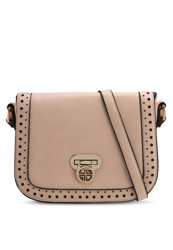 Carlton London beige Chadsia Crossbody Bag D7ECBAC3E94B01GS_1