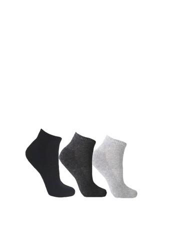 Mundo black and grey Mundo Sport Sneaker Sock Anti Bacteria 3 Pairs Pack 7DA9BAA8AF0E97GS_1