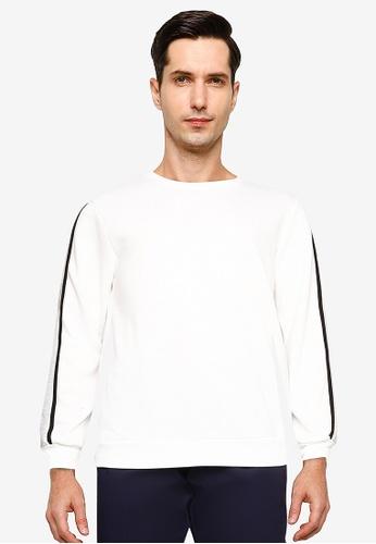 ZALORA BASICS white Contrast Trim Sweatshirt 9B1B3AA4C0E1DEGS_1