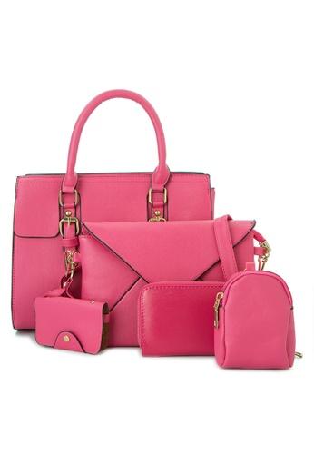 Treasure by B & D pink 5 in 1 Fashion Bag Set TR022AC0K5KLPH_1