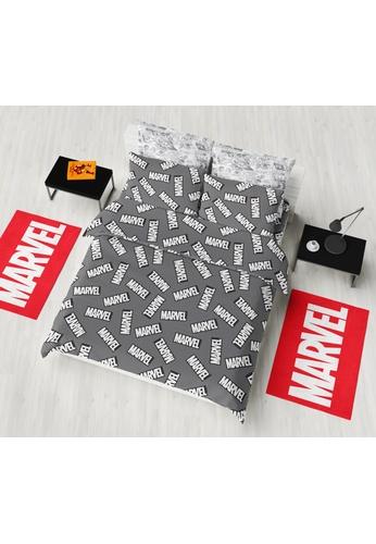 Eurotex Marvel, Cotton Sateen Quilt Cover Set - Mono Pop. A46EEHL48B42C6GS_1