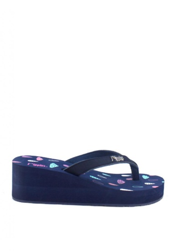 Ripples blue Raindrops Clouds Wedges RI425SH56AFFSG_1