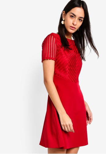 ZALORA red Fit And Flare Dress 0DB82AA2A2E77BGS_1