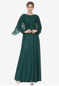 c3a6a7baf03 Sunnydaysweety green New Lace Cape Maxi One Piece Dress AC9C4AA0298D9FGS_1