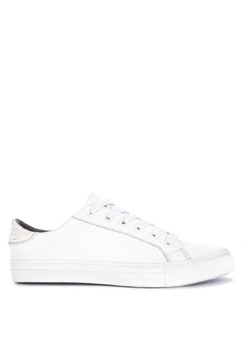 MARKS & SPENCER white Autograph Leather Lace-up Trainers 1C04ASH478A702GS_1
