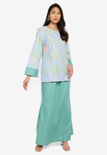 Baju Kurung Heliza from NOOR ARFA in green_1