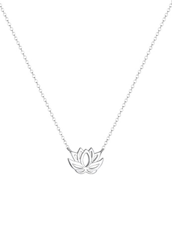 ELLI GERMANY silver Elli Germany Necklace Sterling Silver Lotus Flower 32459ACFE320BDGS_1