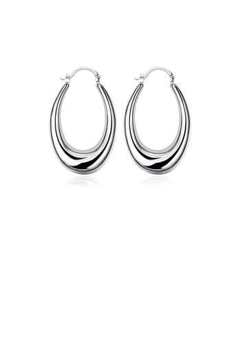 Glamorousky silver Simple and Fashion Water Drop Earrings 48E2CACB06063AGS_1