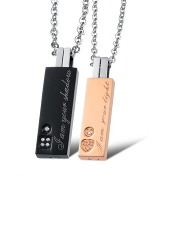 ADORA multi Stainless Steel Couple Necklace 49A8EACF6320E9GS_1