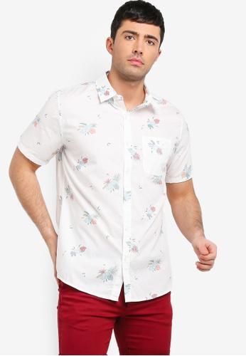 Cotton On 白色 短袖口袋襯衫 921E1AA6CBD3DFGS_1