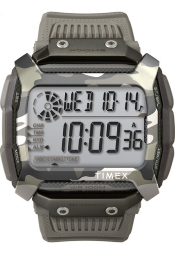 Timex grey Timex Command Shock 54mm - Gray Case & Resin Strap (TW5M18300) C1C0BACF3243CCGS_1