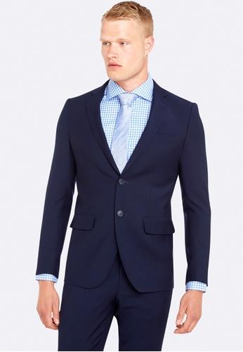 Oxford blue Travel Auden Wool Suit Jacket 35A3FAAB6A9FB2GS_1