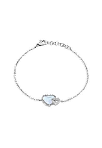 Morellato silver Sempreinsieme Bracelet SAGF10 Stainless Steel Nacre Crystals 0DC27AC568A9D5GS_1