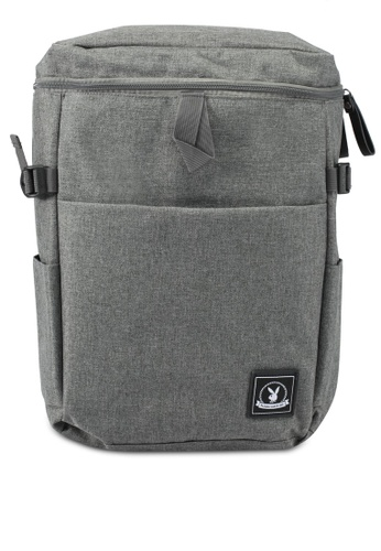 Playboy grey Playboy Casual Backpack PL371AC0SJZRMY_1
