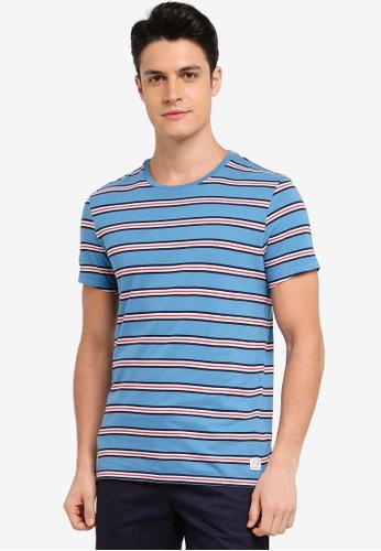 Jack Wills blue Dervene Stripe T-Shirt 51A8BAA8805B60GS_1