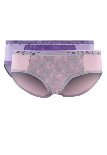Nukleus pink and purple Seed of Hapiness Women Maxi Panties ED339USCF3BC67GS_1