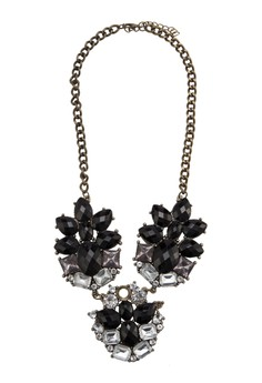 Acrylic & Crystal Statement Necklace