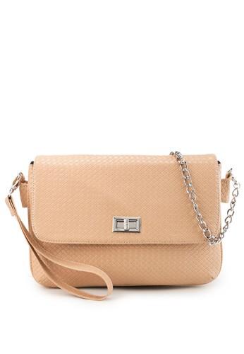 LOLINI beige Davina Sling Bag Chain Cr 81513ACE7385ABGS_1