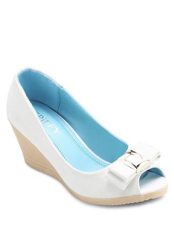 蝴蝶結露趾楔型鞋, 韓系esprit hong kong時尚, 梳妝