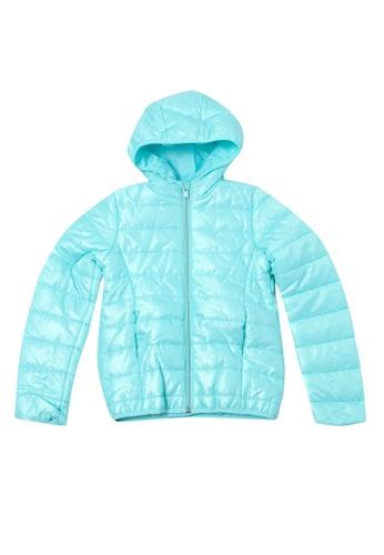 LC Waikiki blue Zip Hooded Down Jacket 4E61CKACABB659GS_1