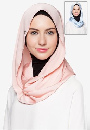 二esprit暢貨中心入綢緞頭巾, 飾品配件, 圍巾及披肩