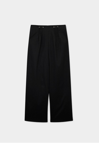Pomelo black Sustainable High Waist Trousers - Black 5732AAA06150E6GS_1